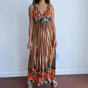 GOA Stretchy sleeveless floral pint maxi dress